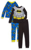 AME Sleepwear Little Boys and Boys Two-Pair Batman Charactered Cotton Pajamas Set