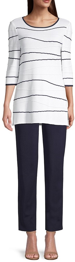 Thumbnail for your product : Misook Abstract Waves Tunic Top