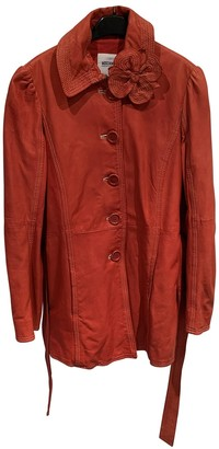 Moschino Cheap & Chic Moschino Cheap And Chic Red Leather Coat for Women