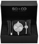 So&Co Women&s 5297 Silver Watch Set
