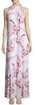 Rachel Pally Renee Halter Butterfly-Print Long Dress, Plus Size