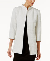 Eileen Fisher Woven Cotton Open-Front Jacket