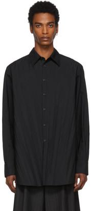 Valentino Black Garavani Plisse Shirt