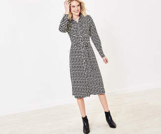 Oasis Puppy Print Shirt Dress