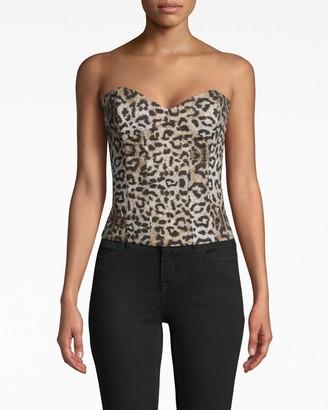 Nicole Miller Leopard Bustier
