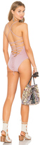 Donna Mizani Lace Up One Piece