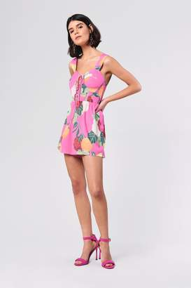 Glamorous Womens **Citrus Floral Playsuit By Pink