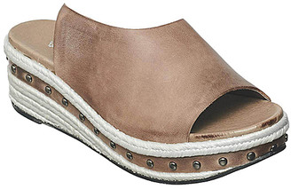 Antelope Women's Sandals Grey - Gray & White Stud-Accent Leather Wedge Sandal - Women