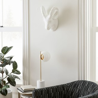 west elm Papier-Mache Animal Sculpture - Ram Head