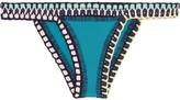 Kiini Flor Crochet-trimmed Bikini Briefs - Teal