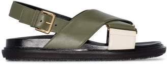 Marni Fussbet criss-cross sandals