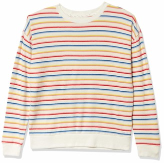Andrew Marc Women's Striped Hachi Long Sleeve Pullover