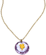 Charmed Circle Amethyst Crystal Clover Necklace