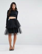 Boohoo Tiered Tulle Skirt