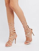 Charlotte Russe Studded Lace-Up Dress Sandals