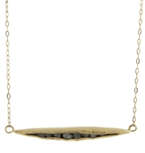 Ariko Rough Diamond Gold Pod Pendant Necklace