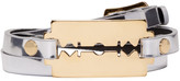 McQ by Alexander McQueen Silver Razor Triple Wrap Bracelet