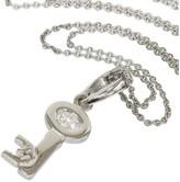 De Beers 18K White Gold & 0.11ct Diamond Key Necklace