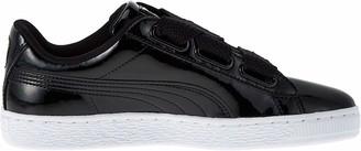 Puma Women's BASKET HEART PATENT WN'S Low-Top Sneakers Black Black Black 3.5 UK