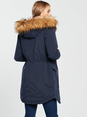 Very Ultimate Parka with Eyelet Trim - Navy
