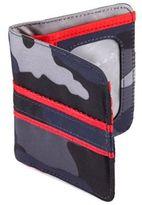 Lug Tailback Pocket Wallet in Camo Blue