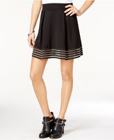 Material Girl Juniors' Illusion-Mesh A-Line Skirt, Only at Macy's
