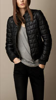 Burberry Quilted Leather Bomber Jacket