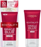 L'Oreal 2 Pack of Revitalift Miracle Blur Oil-free Instant Skin Smoother, 1.18 Fl Oz