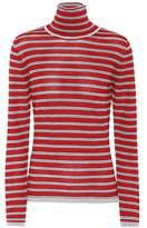 Marni Striped wool and silk turtleneck top