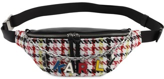 Karl Lagerfeld Paris K Studio Leather & Tweed Belt Bag