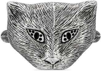 Gucci Garden silver cat ring