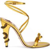 Gucci Leather crisscross sandal