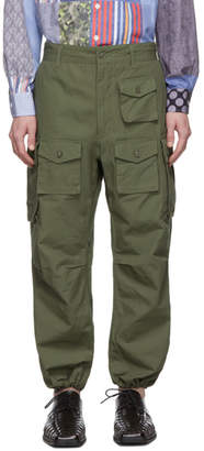 Engineered Garments Green Cotton Cargo Pants