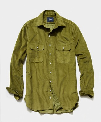 Drakes TS x Corduroy Workshirt in Olive