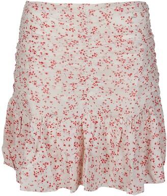 Ganni Floral Printed Georgette Mini Skirt