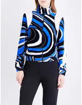 Emilio Pucci Wave-print velvet jacket