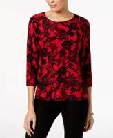 JM Collection Petite Embellished Top, Created for Macy's