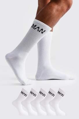 boohoo MAN Dash 5 Pack Sport Socks