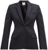 Roksanda Lesia Tailored Wool Blazer - Womens - Navy