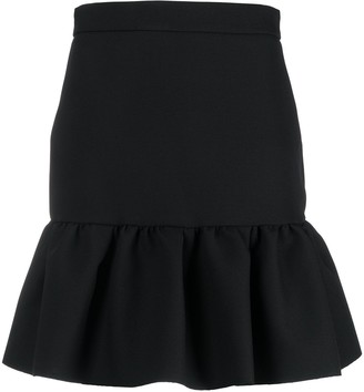 MSGM Peplum-Hem Mini Skirt