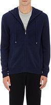 Barneys New York Men's Cashmere Zip-Front Hoodie-NAVY