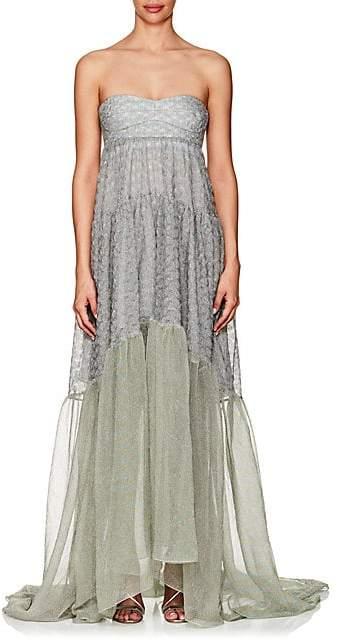 Missoni Women's Metallic Knit Strapless Gown - Silver