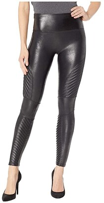 Spanx Faux Leather Moto Leggings (Very Black) Women's Casual Pants