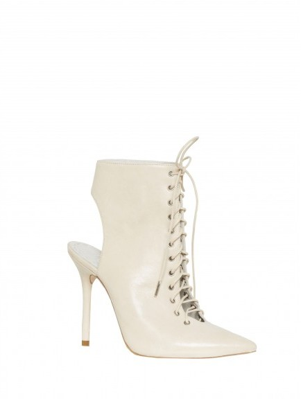 Alice + Olivia Dominica Light Distressed Leather Boot