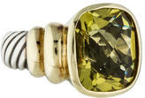 David Yurman Two-Tone Green Quartz Noblesse Ring