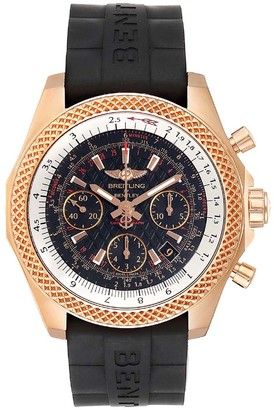 Breitling Black 18K Rose Gold and Rubber Bentley RB0612 Men's Wristwatch 44MM