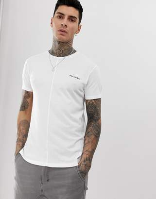 Religion t-shirt with seam detail in white