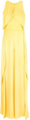 Halston Layered Halter Gown