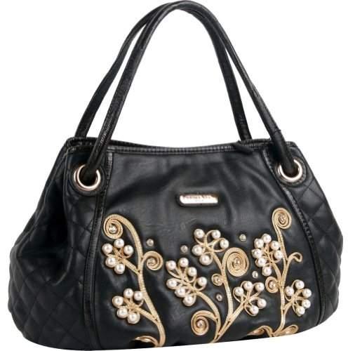 Nicole Lee Tilly Beaded Flowers Hobo Bag