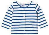 Petit Bateau Blue and White Stripe Cardigan